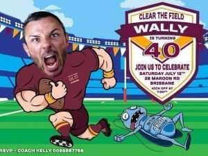 Funny State of Origin Birthday Invitation