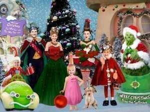 Grinch Christmas Card with YOUR faces