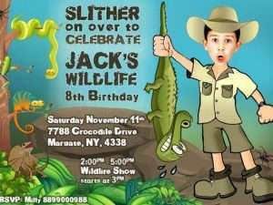 REPTILE Birthday Invitation